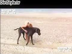 Japan Girl and 2 Dog Cum